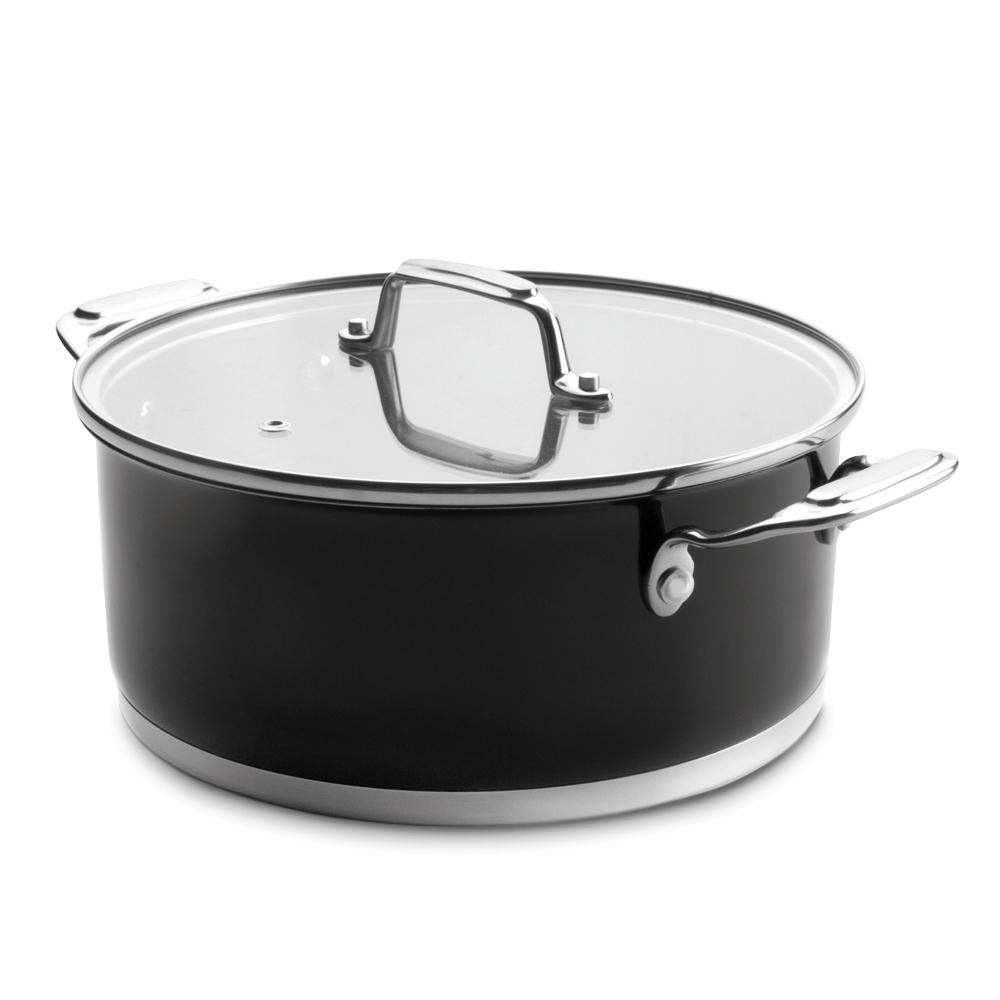 Кастрюля с крышкой 4,2 л, диам. 24 см, серия Cookware Black, LACOR